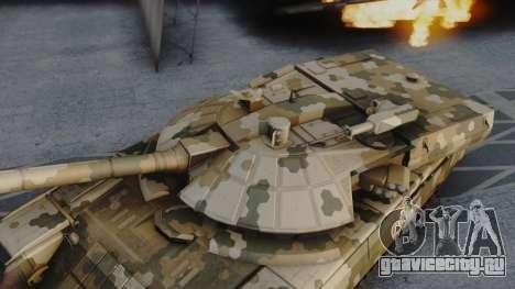 T-100 Varsuk для GTA San Andreas вид сзади слева