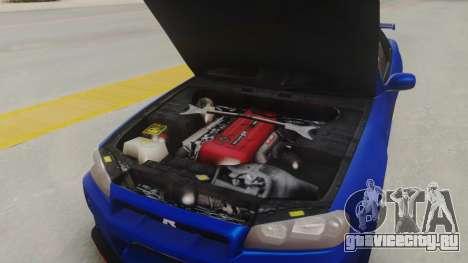 Nissan Skyline GT-R 2005 Z-Tune для GTA San Andreas вид изнутри