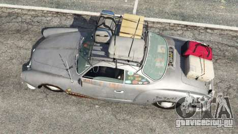 Volkswagen Karmann-Ghia Typ 14 1967 для GTA 5 вид сзади