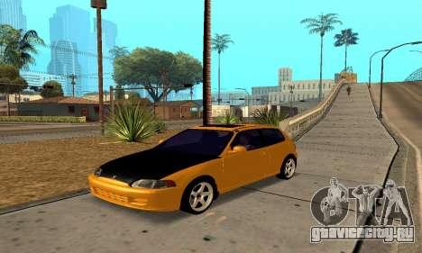 Honda Civic EG6 Tunable для GTA San Andreas вид сбоку