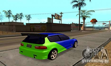 Honda Civic EG6 Tunable для GTA San Andreas вид справа