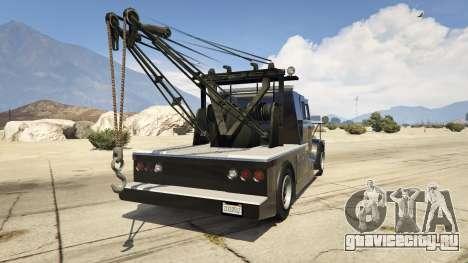 Police Towtruck для GTA 5 вид сзади слева