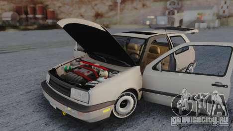 Volkswagen Golf Mk3 для GTA San Andreas вид изнутри
