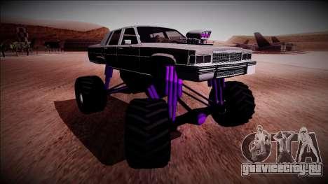 GTA 4 Emperor Monster Truck для GTA San Andreas вид справа