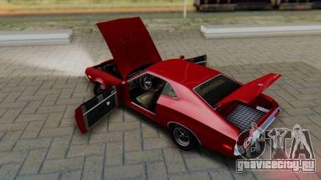 Ford Gran Torino Sport SportsRoof (63R) 1972 PJ1 для GTA San Andreas вид изнутри