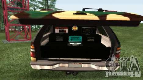 Chevrolet Suburban Сamouflage для GTA San Andreas вид справа