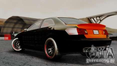 GTA 5 Benefactor Schafter V12 Arm для GTA San Andreas вид слева