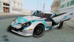 Mercedes-Benz SLR McLaren 722 Hatsu Miku для GTA San Andreas