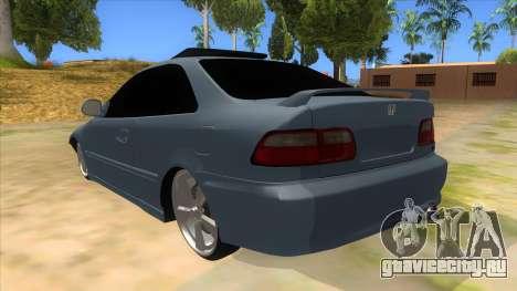 Honda Civic Coupe 1995 для GTA San Andreas вид сзади слева