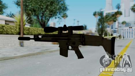 SCAR-20 v1 Supressor для GTA San Andreas второй скриншот