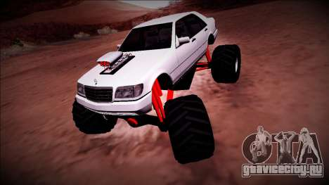Mercedes-Benz W140 Monster Truck для GTA San Andreas вид слева