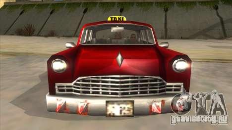 GTA3 Borgnine Cab для GTA San Andreas вид изнутри