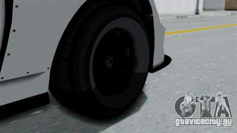 GTA 5 Karin Sultan RS Drift Double Spoiler PJ для GTA San Andreas вид сзади слева