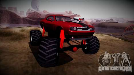 2009 Dodge Challenger SRT8 Monster Truck для GTA San Andreas вид сзади