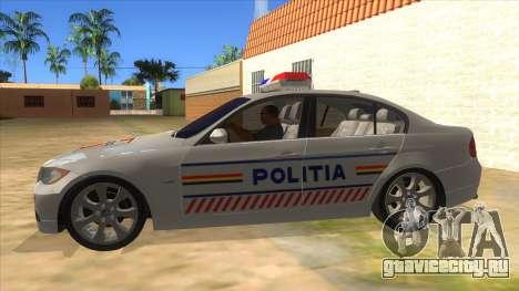 BMW 330XD Romania Police для GTA San Andreas вид слева