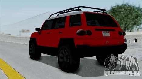 GTA 5 Karin Beejay XL для GTA San Andreas вид слева