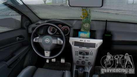 Opel-Vauxhall Astra Policia для GTA San Andreas вид изнутри