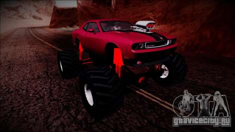 2009 Dodge Challenger SRT8 Monster Truck для GTA San Andreas вид сверху