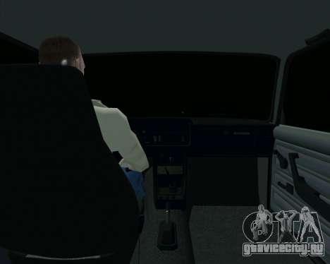 Ваз 2107 Бродяга для GTA San Andreas вид изнутри
