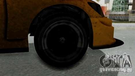 GTA 5 Karin Sultan RS Drift Big Spoiler для GTA San Andreas вид сзади слева