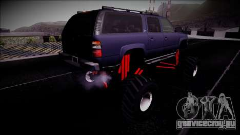 2003 Chevrolet Suburban Monster Truck для GTA San Andreas вид сзади слева