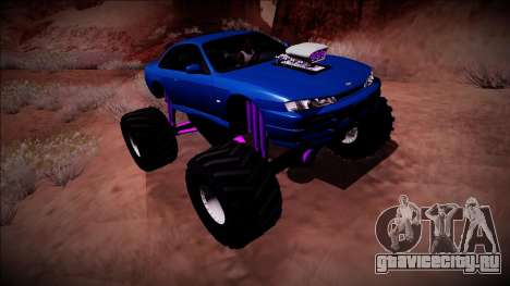 Nissan Silvia S14 Monster Truck для GTA San Andreas двигатель