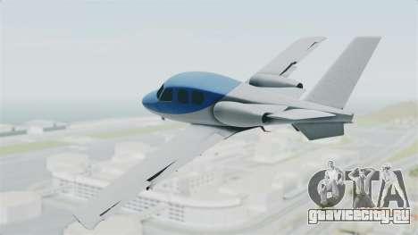 GTA 5 Vestra для GTA San Andreas вид слева