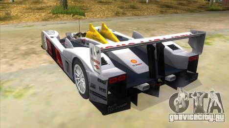 Audi R10 для GTA San Andreas вид сзади слева