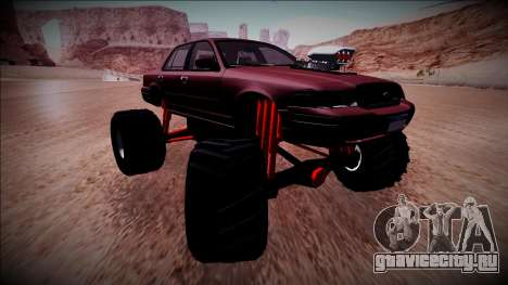 2003 Ford Crown Victoria Monster Truck для GTA San Andreas вид сзади слева