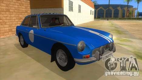 Richard Hammond MGB GT Top Gear для GTA San Andreas вид сзади