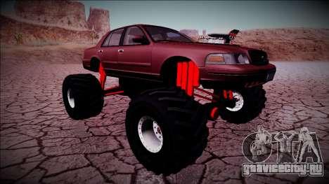 2003 Ford Crown Victoria Monster Truck для GTA San Andreas вид снизу