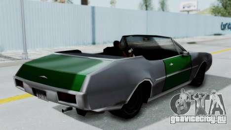 Clover Cabrio для GTA San Andreas вид справа