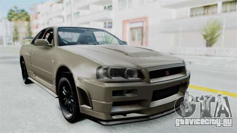 Nissan Skyline GT-R R34 2002 F&F4 Damage Parts для GTA San Andreas