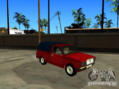 ВАЗ 2104 Пикап для GTA San Andreas вид сзади слева
