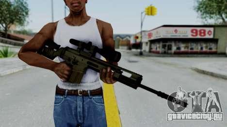 SCAR-20 v2 No Supressor для GTA San Andreas третий скриншот