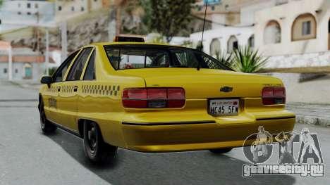 Chevrolet Caprice 1991 Taxi для GTA San Andreas вид слева