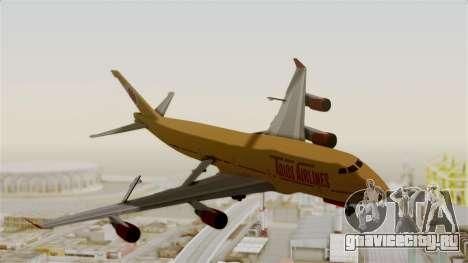 GTA 5 Jumbo Jet v1.0 Adios Airlines для GTA San Andreas вид сзади слева