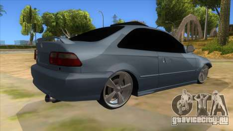 Honda Civic Coupe 1995 для GTA San Andreas вид справа