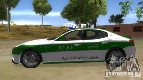 Maserati Iranian Police для GTA San Andreas вид слева
