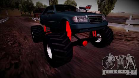 Mercedes-Benz W140 Monster Truck для GTA San Andreas вид снизу