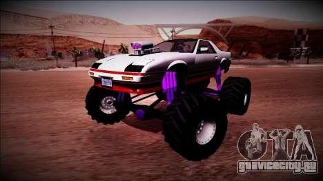 GTA 5 Imponte Ruiner Monster Truck для GTA San Andreas вид сбоку