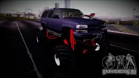 2003 Chevrolet Suburban Monster Truck для GTA San Andreas вид справа