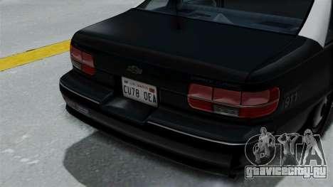 Chevrolet Caprice 1991 CRASH Division для GTA San Andreas вид сзади