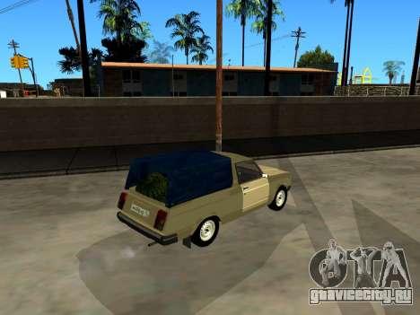 ВАЗ 2104 Пикап для GTA San Andreas вид сзади