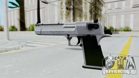 Pouxs Desert Eagle v2 Chrome для GTA San Andreas третий скриншот