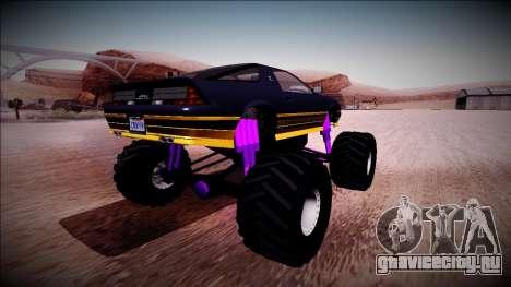 GTA 5 Imponte Ruiner Monster Truck для GTA San Andreas вид сзади слева