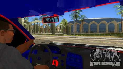 ВАЗ 2112 Бродяга для GTA San Andreas вид изнутри