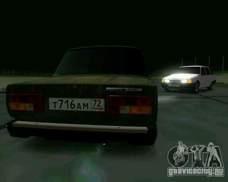 Ваз 2107 Бродяга для GTA San Andreas вид справа