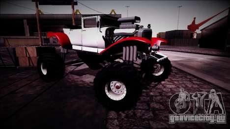 GTA 5 Albany Franken Stange Monster Truck для GTA San Andreas вид сбоку