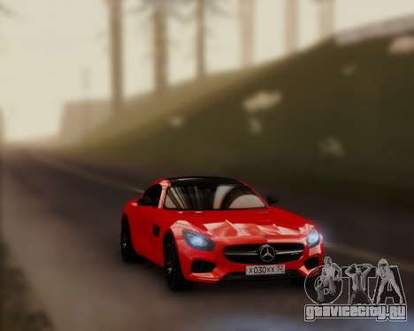 Mercedes-Benz AMG GT 2016 для GTA San Andreas вид сзади слева